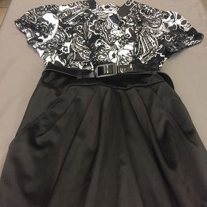 Speechless Pinup Belted Pencil Skirt Dress 9